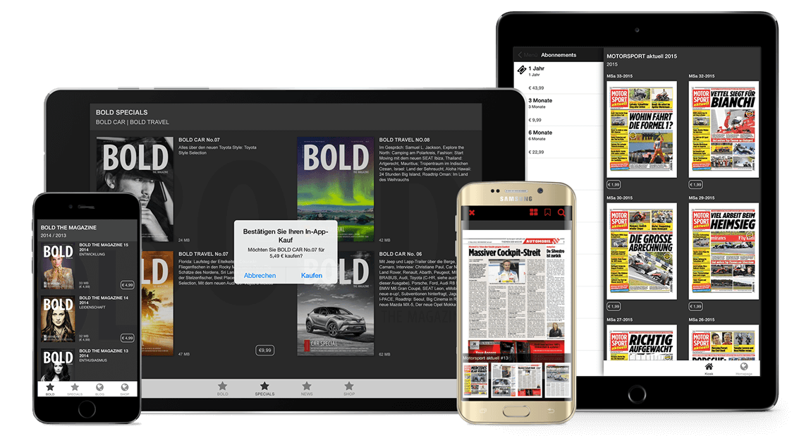 Sell your magazines on every device