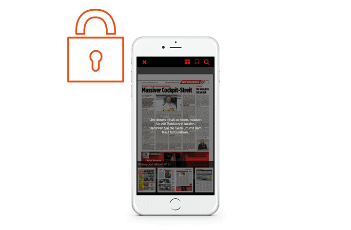 Lock pages of your magazines.