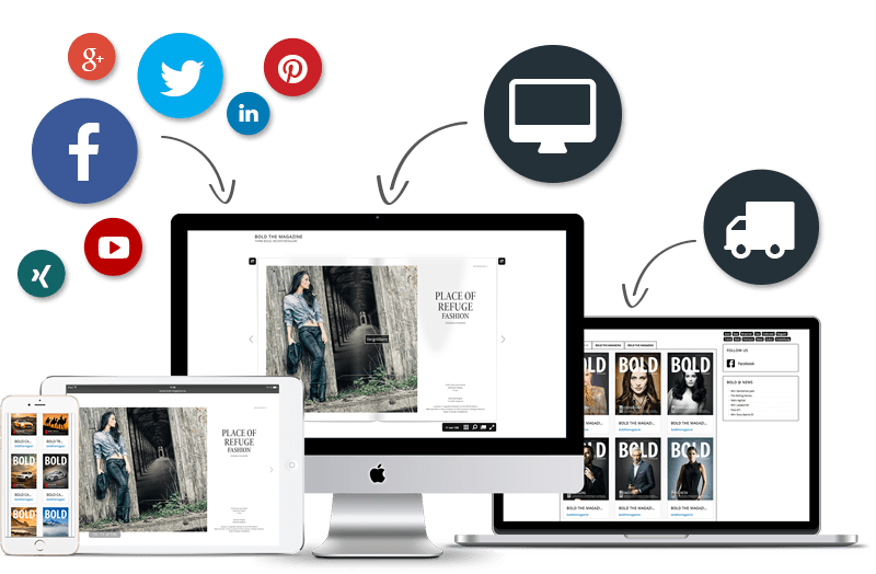 Magazine über das App verkaufen